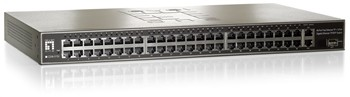 48-Port 10/100 Mbps Rackmount Switch+ 2GBE Ports +1 Port SFP