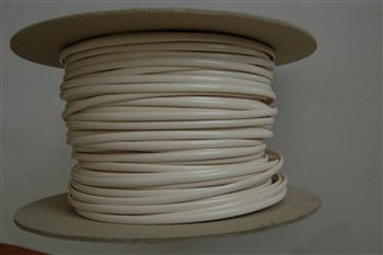 Telefonkabel 6-adrig, flach, weiss,Rolle/Ring 100m AWG 26