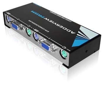 Adderview Prism,4Port Reserve KVM Switch/Distrib Amplifier Euro Power Cable