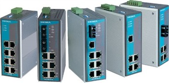 4-port 10/100 BaseT(X)Ethernet Switch,unmanaged 0 - 60° C, multimode ST Connector