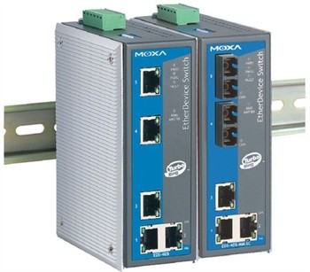 5-Port Ethernet Switch 10/100Mbps DIN Rail managed, 2 Port Fiber 100BaseFX SC Single Mode