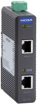 PoE+ Injector,max.output of 30W at 24/48 VDC Gigabit, 0 - 60° C