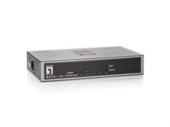 4 Port 10/100/1000Mbps Ethernet +1-slot Gigab. SFP Port