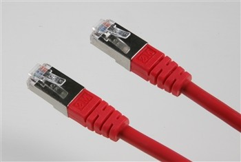 Patchkabel SF/UTP 0.5m rot Cat.5e