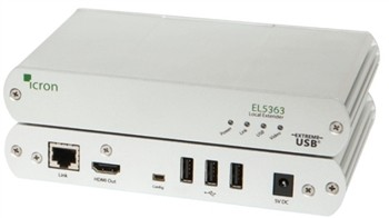 KVM Extender HDMI + USB 2.0,100m over cat. X cable HD Video 4Kp30, 1080p, 1920x1200