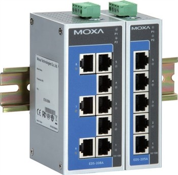 4-port 10/100 BaseT(X)Ethernet Switch,0 - 60°C